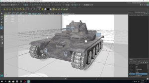 3D model swedish tank