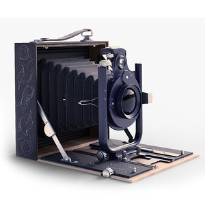 close-up old camera 3D