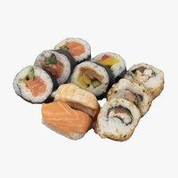 3D sushi realistic model