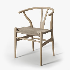 3D model wishbone ch24 chair