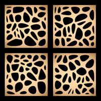 3D panels gold