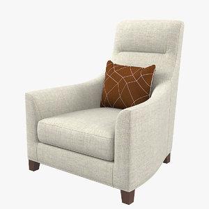 3D cts salotti rebecca chair