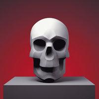 stylized skull 3D