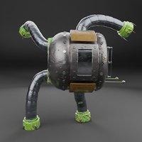 rig metallic blender 3D model