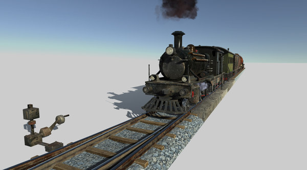 3D train engine model