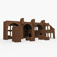 3D model basilica maxentius