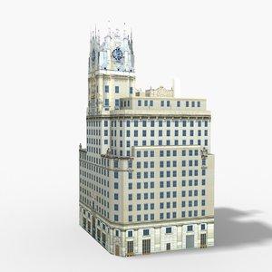 edificio telefonica madrid 3D