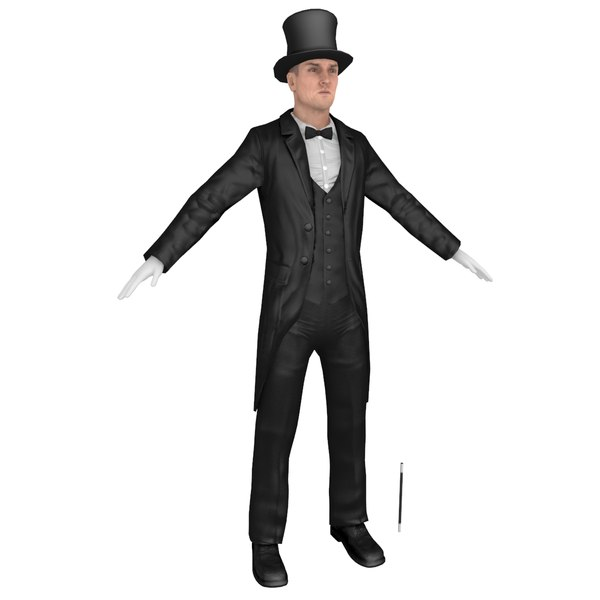 magician body head 3D model
