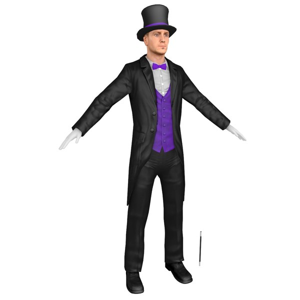 magician body head model