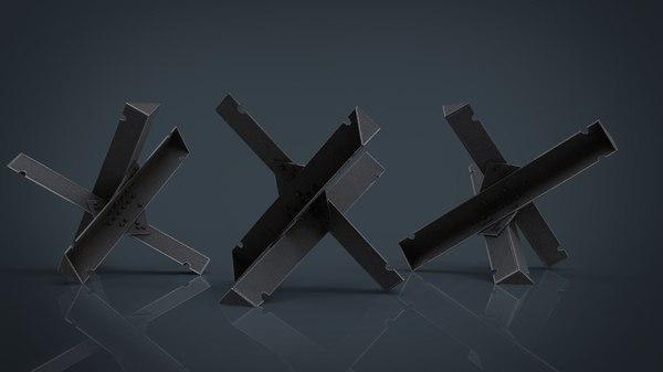 hedgehog anti-tank obstacle 3D model