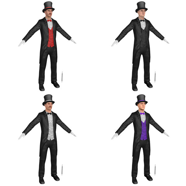 3D pack magician hats model