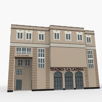 la latina theater 3D model