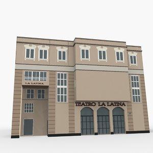 la latina theater 3D model