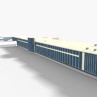 3D madrid airport terminal 3 model