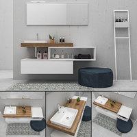 bathroom furniture set e 3D model