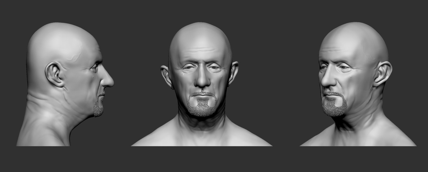 mike ehrmantraut 3D model