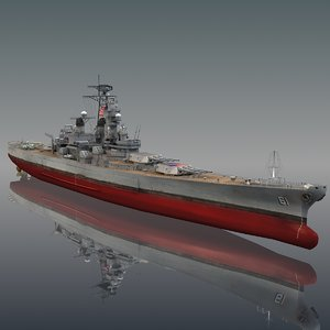 uss iowa bb-61 model