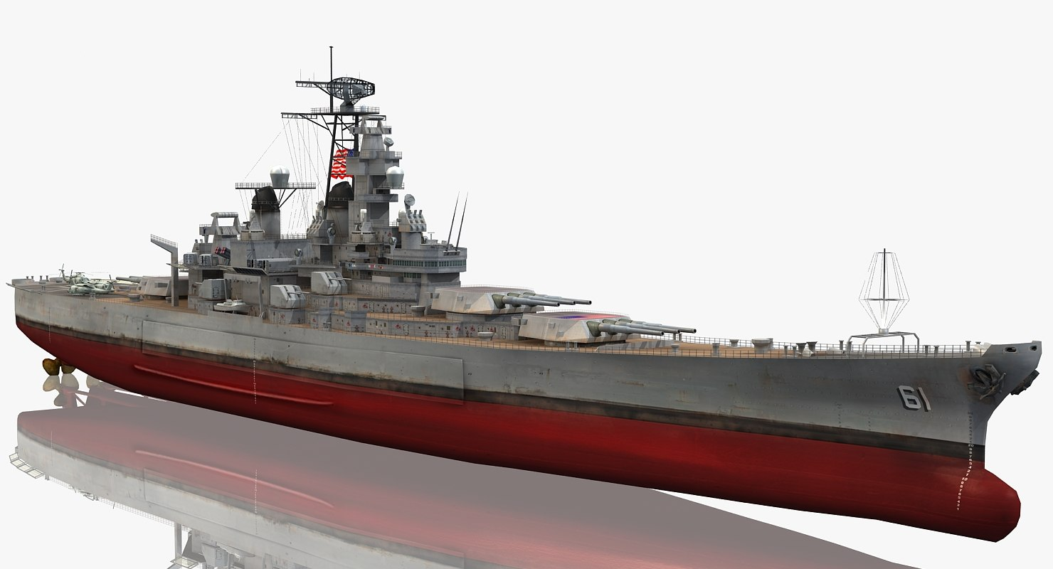 uss iowa bb-61 3D model