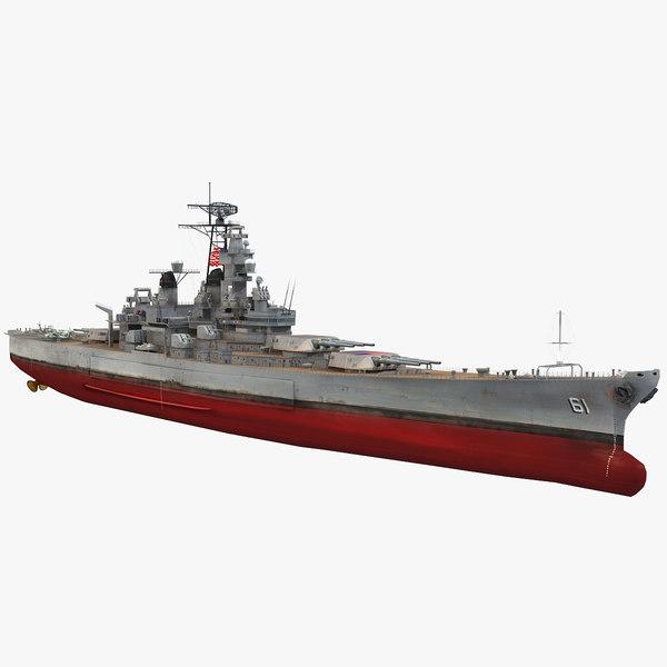 uss iowa bb-61 3D model