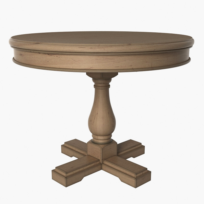 3D model wood wooden table