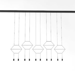 vibia wireflow pendant 3D