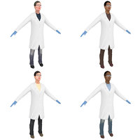 3D pack female scientist