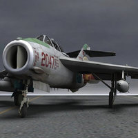 MiG-17 Fresco F for obj and fbx