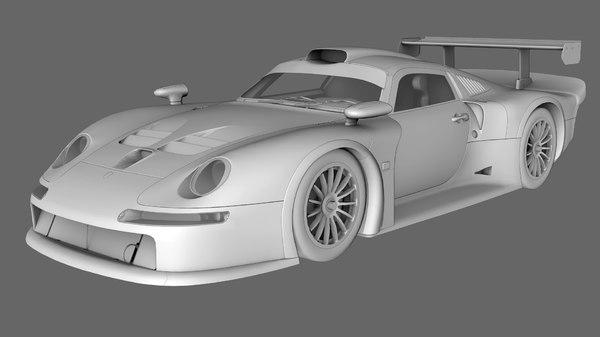 3D porsche 911 gt1 1996