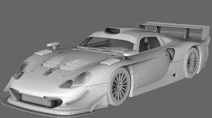 3D porsche 911 gt1 1997 model