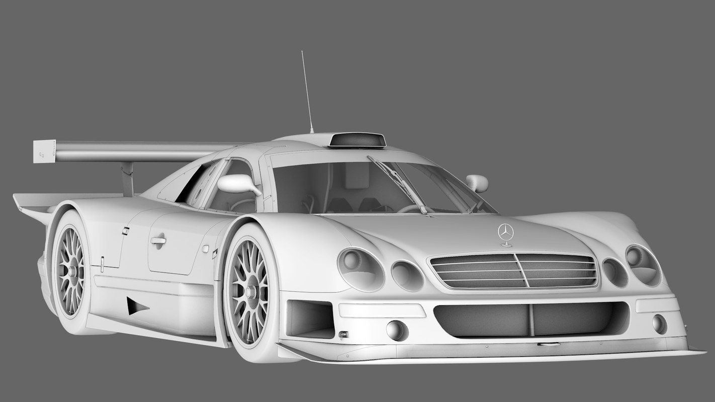 amg mercedes clk 1999 3D model