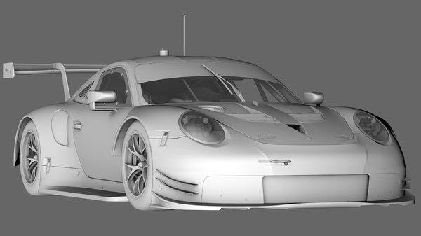 3D porsche 911 rsr 2017