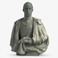 3D model monument alfonso xii king