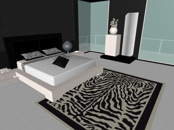 bedroom bed room model