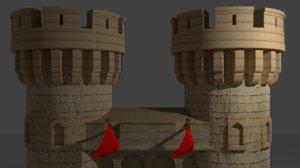 medieval gate 3D model