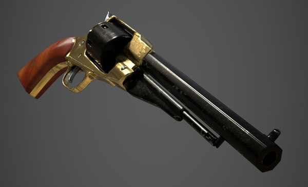 1858 remington revolver 3D