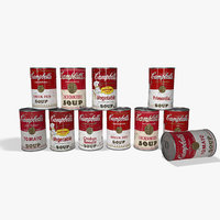 3D campbells canned model