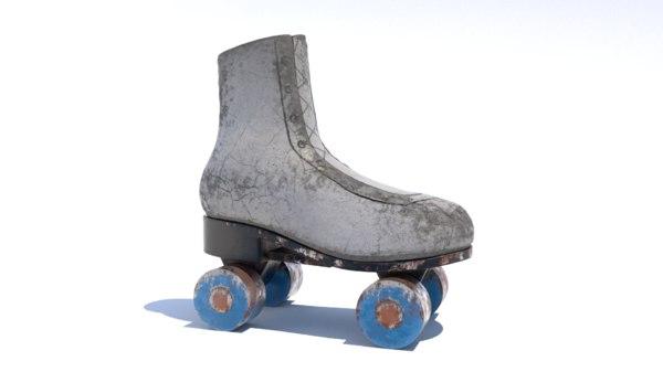3D rollerskate roadside model