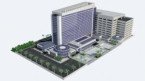 3D - hd hotel resort model