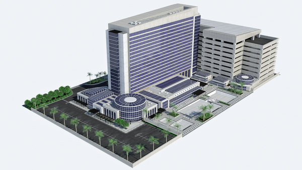 3D - hd hotel resort model