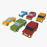 cartoon cars 2 3D