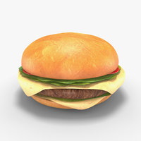 Low Poly Hamburger