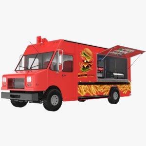 3D model food truck