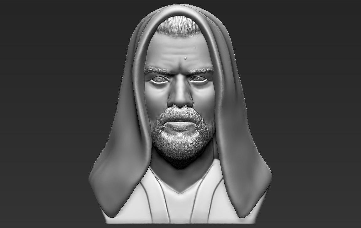 3D kenobi bust ready printing model