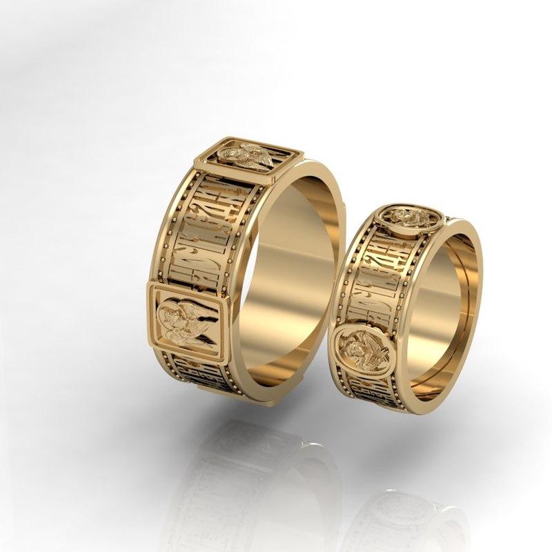 wedding rings evangelists 3D model