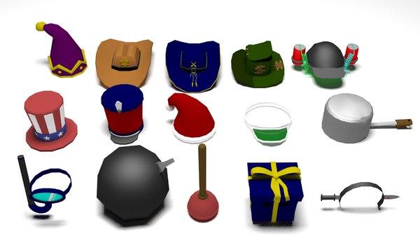 hats 3D model