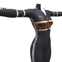 women sport suit 3D