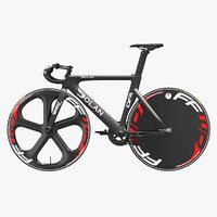 3D carbon track bike dolan model