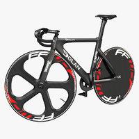 Dolan DF4 Carbon Track Bike Rigged