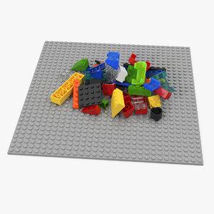 3D random lego bricks