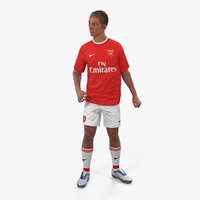 soccer football player arsenal 3D model